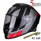 Scorpion Exo R1 Air Corpus Motorcycle Racing Full Face Helmet | Black/Red | All Sizes