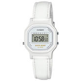 Casio Womens Water Resistant Watch | White Case | White Leather Band | LA-11WL-7AEF