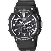 Casio Mens Sports Watch | Chronograph Analouge Black Dial | Resin Strap | MCW-200H-1AVEF