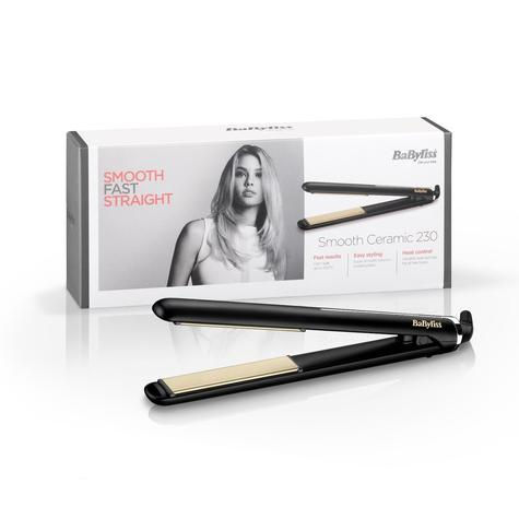 BaByliss 2514U Smooth Ceramic Hair Straightener | 230°C | 6 Digital Heat Setting | NEW Thumbnail 1