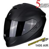 Scorpion Exo 1400  Air Matt Black Full Face Motorcycle/ Bike Helmet | All Sizes