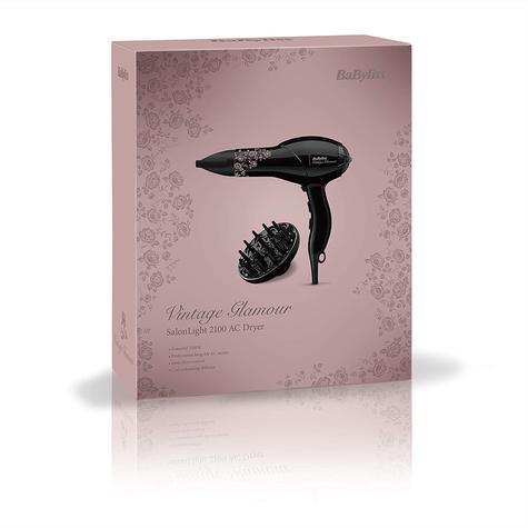 BaByliss Vintage Glamour SalonLight 2100 AC Professional Hair Dryer | Lightweight |  Thumbnail 3