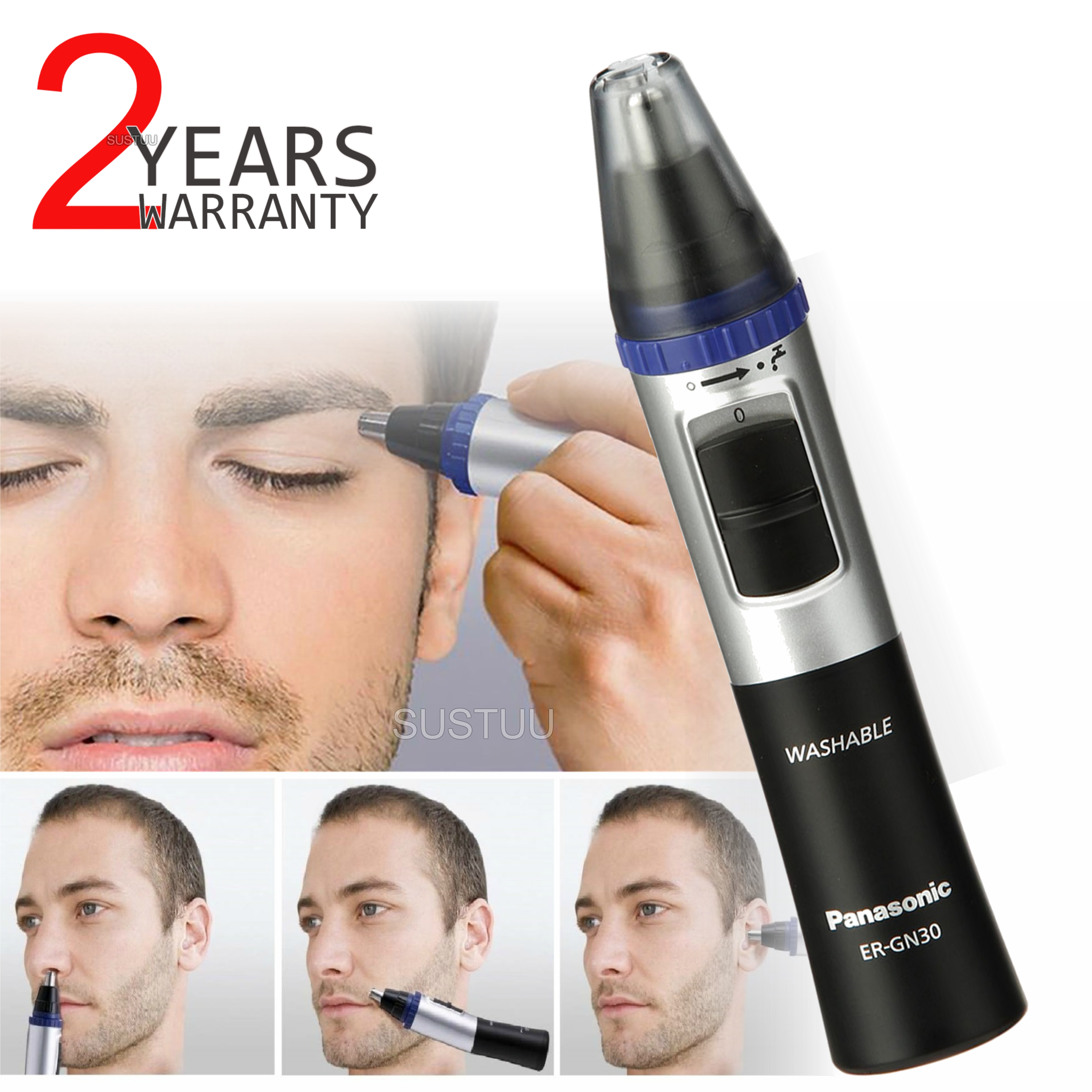 Panasonic ERGN30 | Nose Facial and Ear Hair Eyebrows Trimmer | Wet & Dry | Washable |