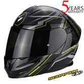 Scorpion Exo 920 Satellite Blk & Yell Unisex Helmet|Antifog-Flip Front|ECE 22-05