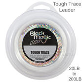 Black Magic Tough Trace Leader | Ultra Clear | Fishing Accessory | White | 20lb to 200lb