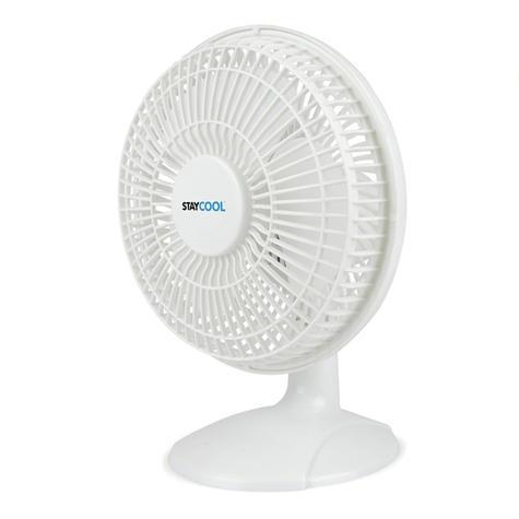 Lloytron 2 in 1 Portable Air Cooling Desk & Clip Fan | 2 Speed Setting | White | F1005 Thumbnail 1