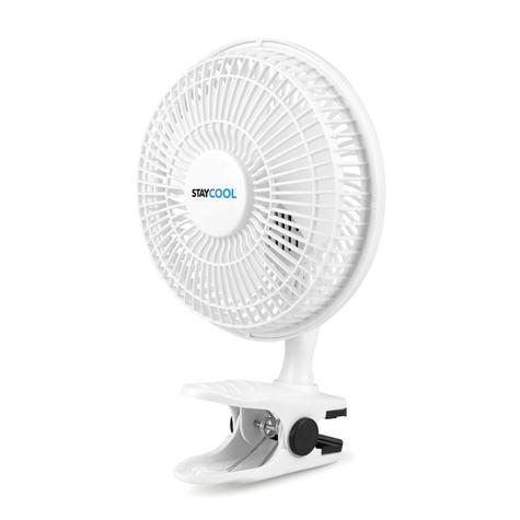 Lloytron 2 in 1 Portable Air Cooling Desk & Clip Fan | 2 Speed Setting | White | F1005 Thumbnail 3