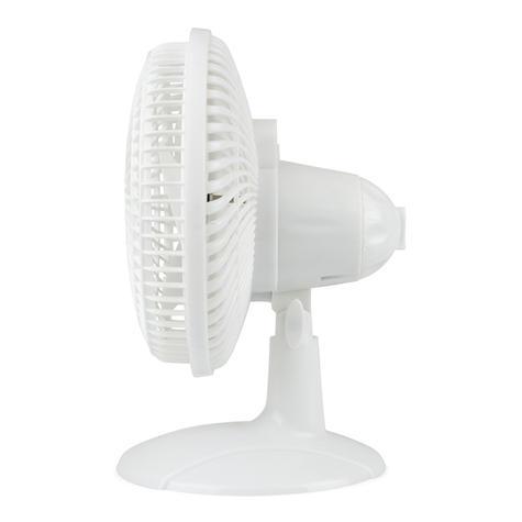 Lloytron 2 in 1 Portable Air Cooling Desk & Clip Fan | 2 Speed Setting | White | F1005 Thumbnail 5