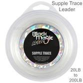 BlBlack Magic Supple Trace Leader | Ultra Clear | Fishing Accessory | White | 20 to 200lb
