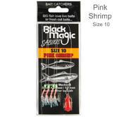 Black Magic Sabiki Bait Pink Shrimp #10 Hooks | Largest Hooks | For Fishing | Pack of 10