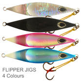 Black Magic Flipper Jig - 80G | Wide Body Style | For Fishing | 4 Colours | Brand New