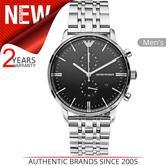 Emporio Armani Men's Watch   Round Black Dial   Stainless Steel Bracelet   AR80009