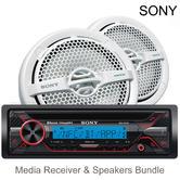 Sony MEX-M71BT Marine CD Receiver + MP1611 140W Speakers | Bluetooth | Radio | MP3