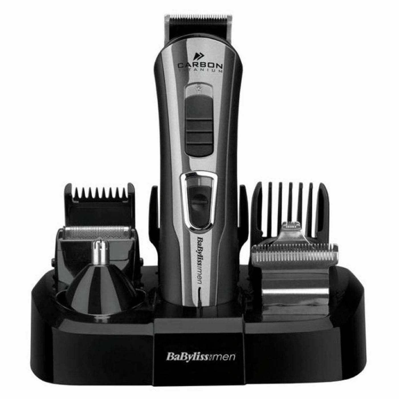 BaByliss 7425CU 10-in-1 Carbon Titanium Face & Body Grooming Kit For Men | Black |