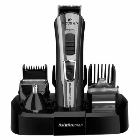 BaByliss 7425CU 10-in-1 Carbon Titanium Face & Body Grooming Kit For Men | Black |  Thumbnail 1