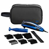 BaByliss 7447BGU Professional Corded Mens Hair Clipper-Trimmer Gift Kit - Blue