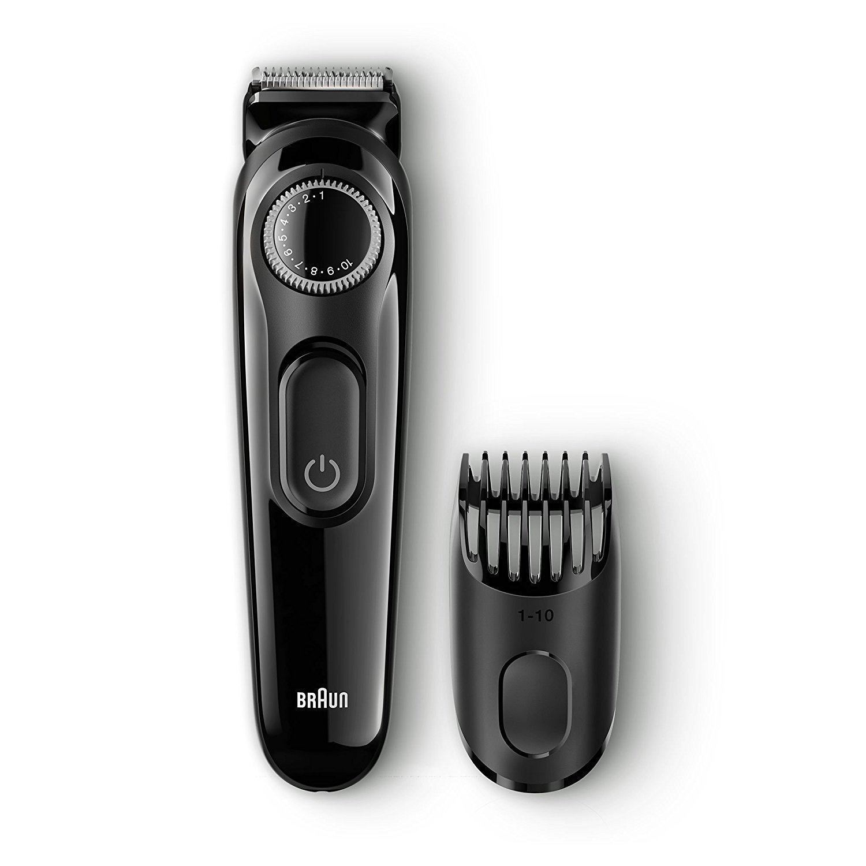 Braun Beard/Hair Cordless Rechargeable Trimmer Shaver | Adjustable Length | BT3022