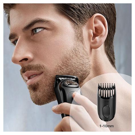 Braun Beard/Hair Cordless Rechargeable Trimmer Shaver | Adjustable Length | BT3022 Thumbnail 4