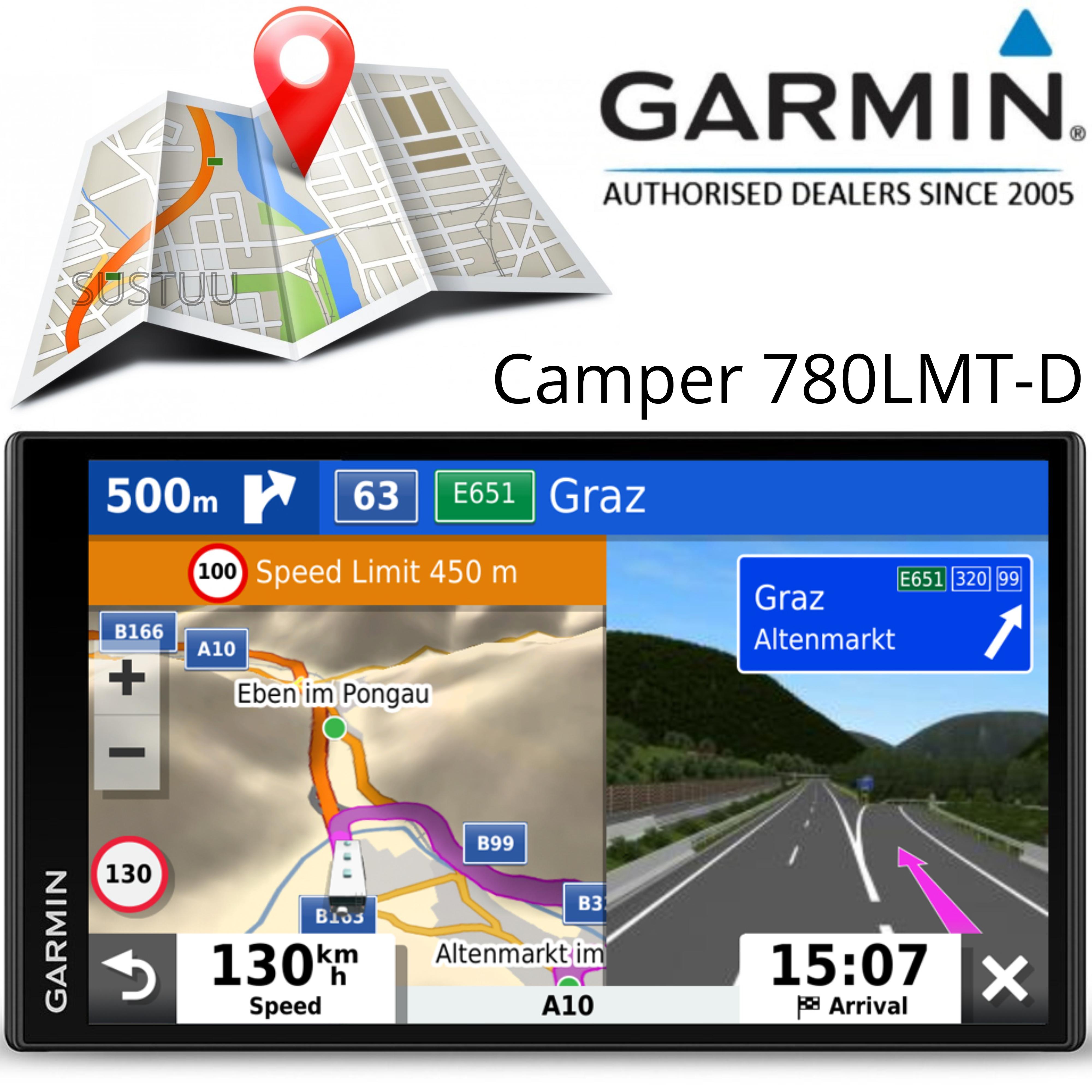 Garmin Camper 780LMT-D Motorhome Caravan GPS SatNav   Lifetime Map+Digital Traffic