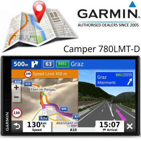 Garmin Camper 780LMT-D Motorhome Caravan GPS SatNav   Lifetime Map+Digital Traffic Thumbnail 1