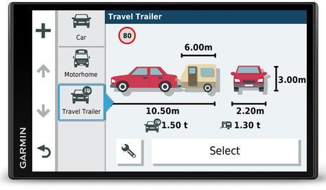Garmin Camper 780LMT-D Motorhome Caravan GPS SatNav   Lifetime Map+Digital Traffic Thumbnail 2