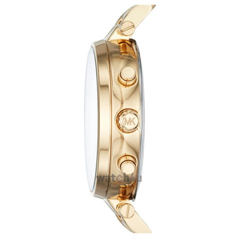 Michael Kors Sawyer Ladies Watch | Chronograph Gold Dial | Stainless Strap | MK6362 Thumbnail 2