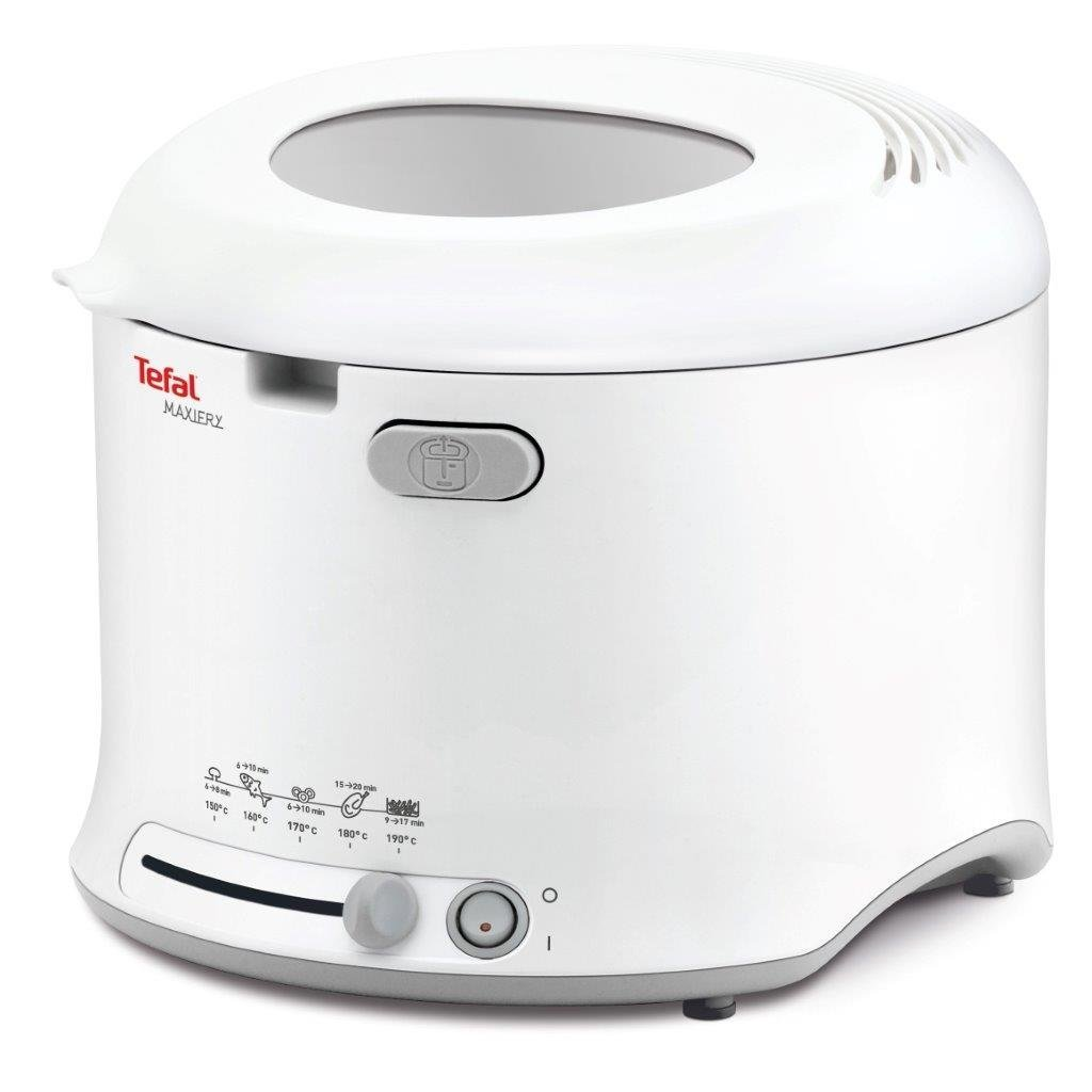 Tefal FF123140 MaxiFry Deep Fryer | 1 kg Capacity | 1600 W | Foldable Handle | White | NEW