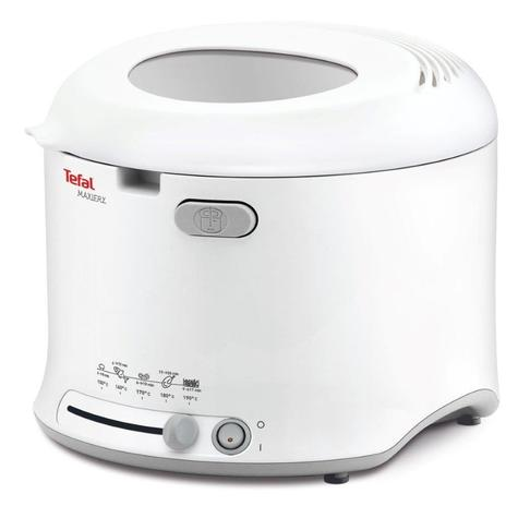 Tefal FF123140 MaxiFry Deep Fryer | 1 kg Capacity | 1600 W | Foldable Handle | White | NEW Thumbnail 1