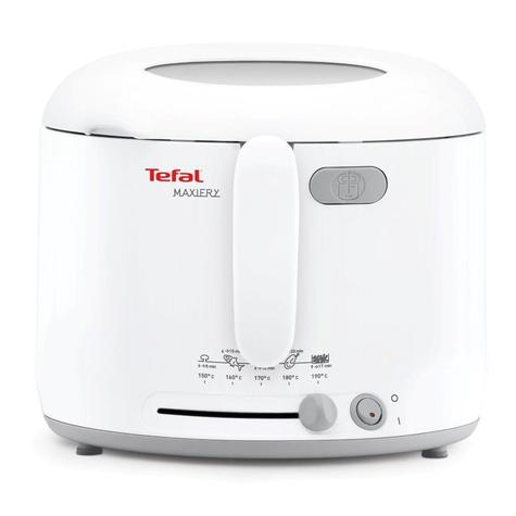Tefal FF123140 MaxiFry Deep Fryer | 1 kg Capacity | 1600 W | Foldable Handle | White | NEW Thumbnail 2