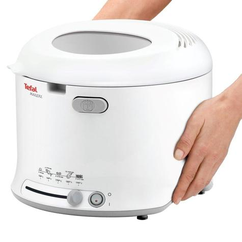 Tefal FF123140 MaxiFry Deep Fryer | 1 kg Capacity | 1600 W | Foldable Handle | White | NEW Thumbnail 4