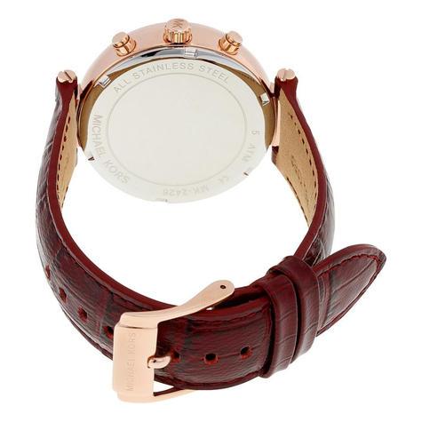 Michael Kors Sawyer Ladies Watch | Chrono Burgundy Dial | Merlot Leather Strap | MK2426 Thumbnail 3