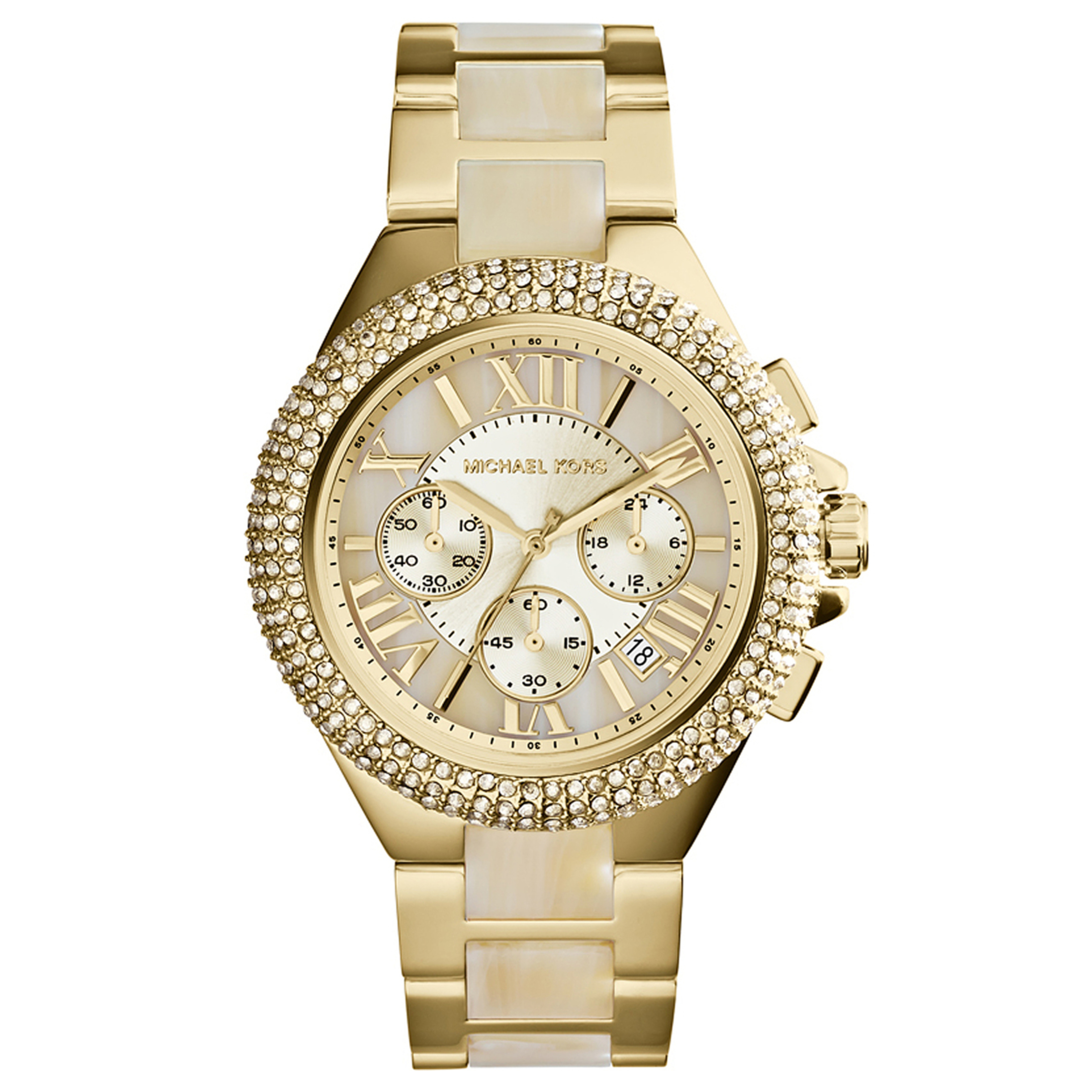 Michael Kors Camille Ladies Watch | Chronograph Dial | Acetace & Steel Strap | MK5902