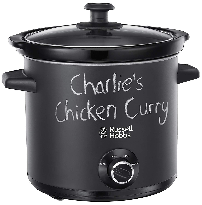 Russell Hobbs 24180 Chalkboard Slow Cooker | 3.5 L Capacity | 3 Heat Settings | Black