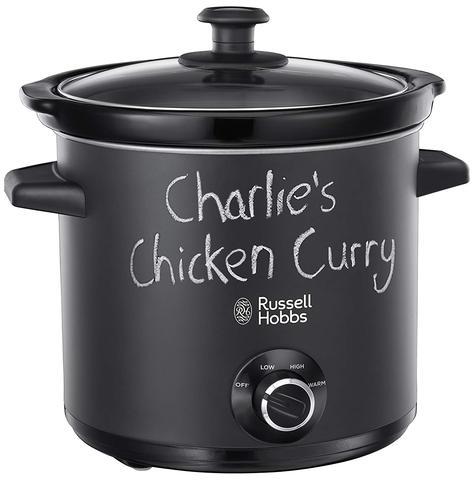 Russell Hobbs 24180 Chalkboard Slow Cooker | 3.5 L Capacity | 3 Heat Settings | Black Thumbnail 1