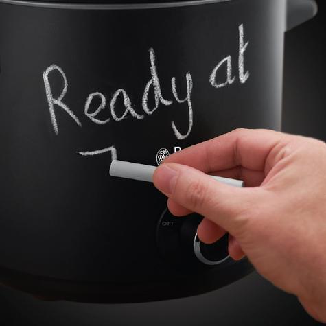 Russell Hobbs 24180 Chalkboard Slow Cooker | 3.5 L Capacity | 3 Heat Settings | Black Thumbnail 5