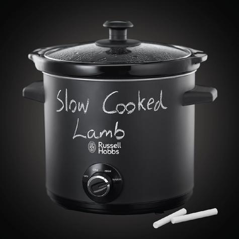 Russell Hobbs 24180 Chalkboard Slow Cooker | 3.5 L Capacity | 3 Heat Settings | Black Thumbnail 6