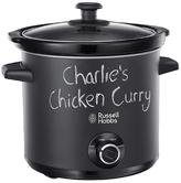 Russell Hobbs 24180 Chalkboard Slow Cooker | 3.5 L Capacity | 3 Heat Settings | Black