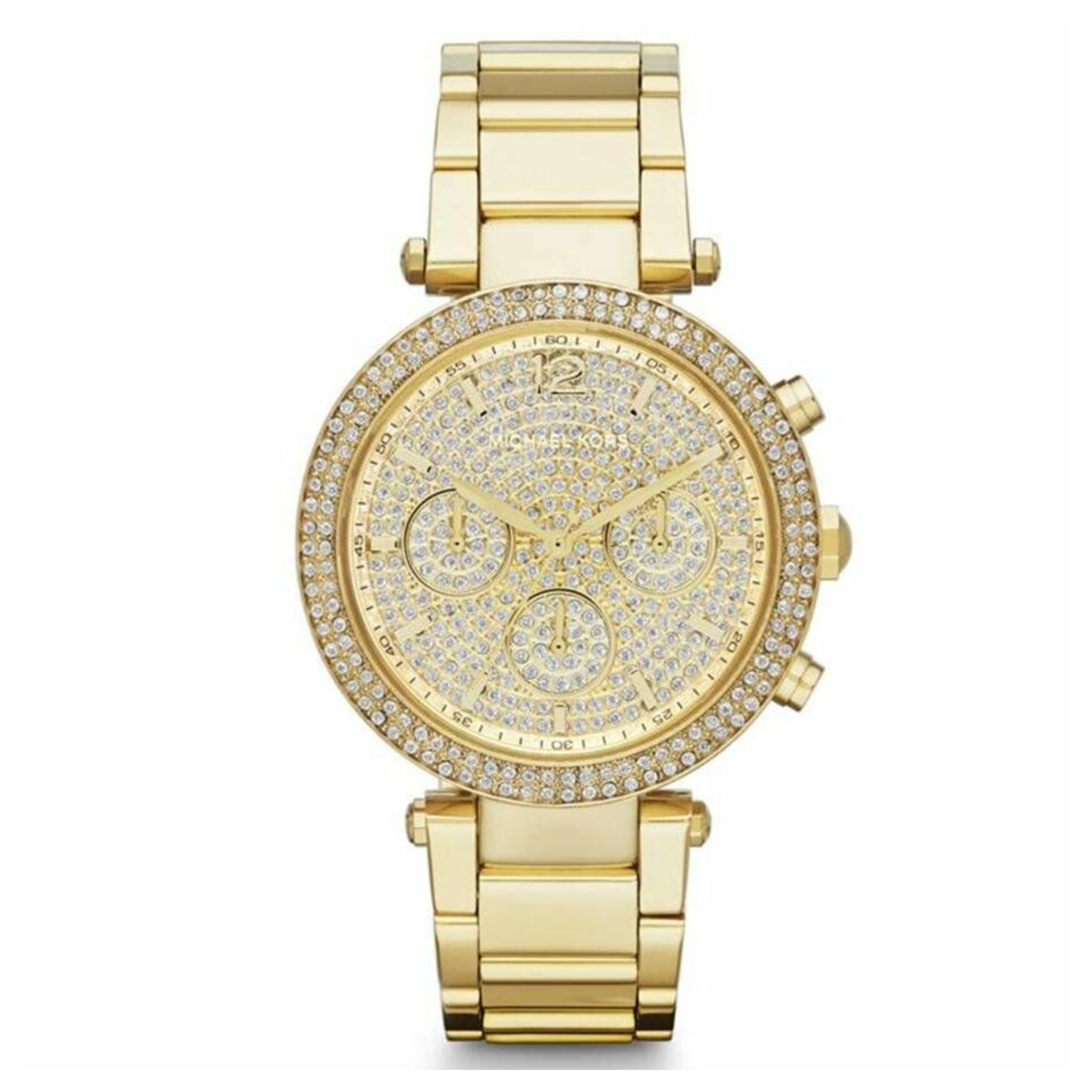 Michael Kors Parker Ladies Watch | Crystal Pave Chronograph Dial | Stainless Strap | MK5856