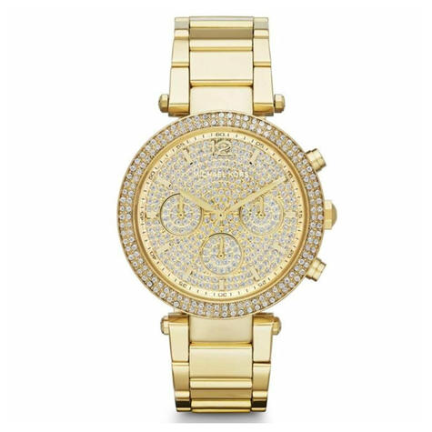 Michael Kors Parker Ladies Watch | Crystal Pave Chronograph Dial | Stainless Strap | MK5856 Thumbnail 1