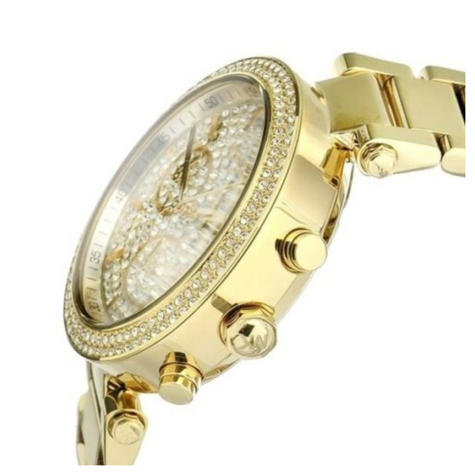Michael Kors Parker Ladies Watch | Crystal Pave Chronograph Dial | Stainless Strap | MK5856 Thumbnail 2