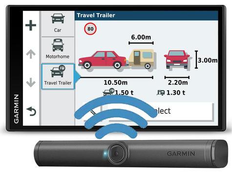 Garmin Camper 780LMT-D GPS Sat Nav+BC40 Wireless Camera | Lifetime Maps+Traffic Thumbnail 2