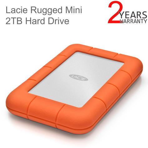 "Lacie Rugged Mini 2TB USB 3.0 2.5"" External Portable Hard Drive | For PC/ Mac | Storage Thumbnail 1"