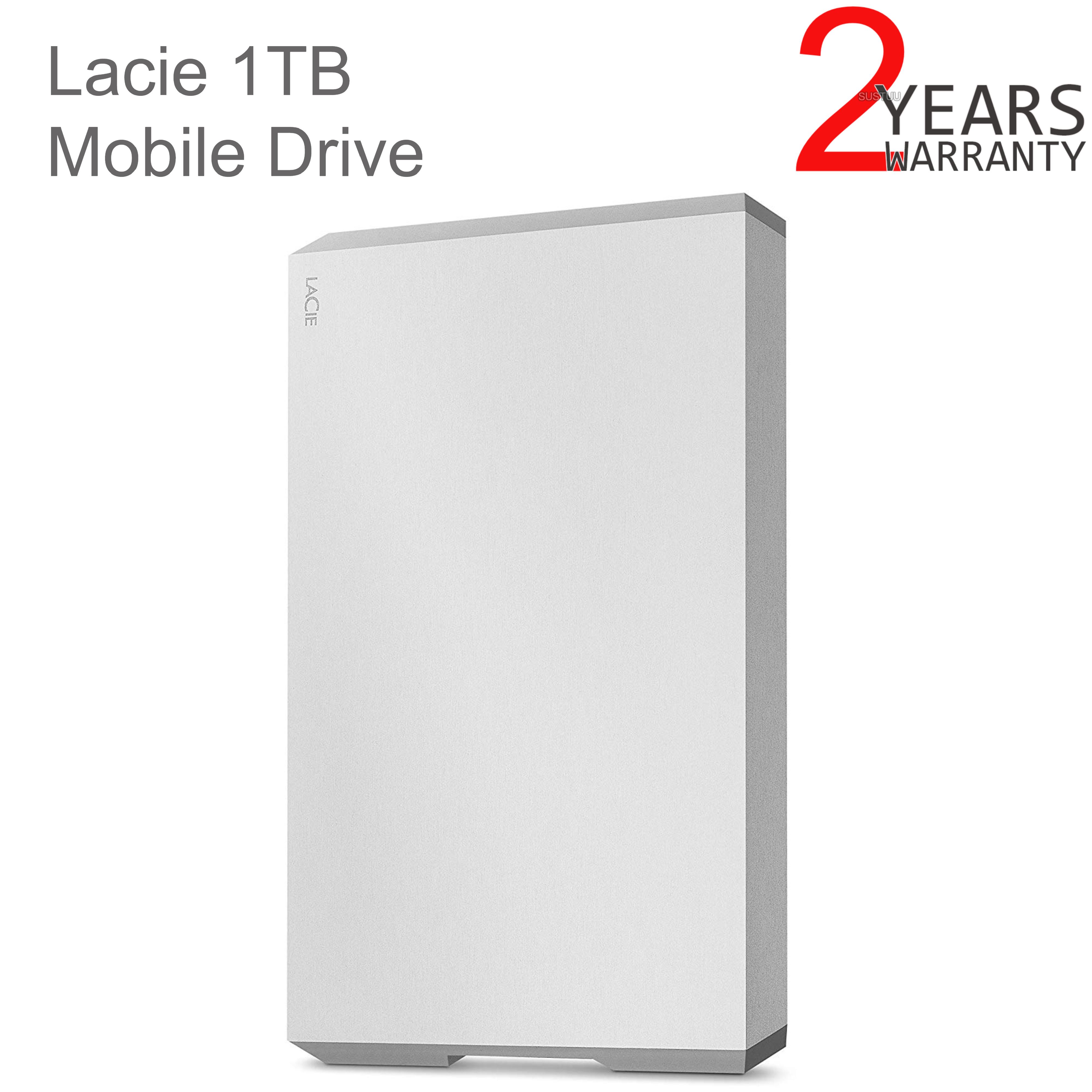 Lacie 1TB Mobile Drive | USB 3.0 Type-C Portable External Hard Drive | For PC & Mac | Storage