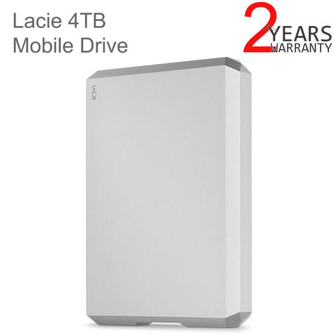 Lacie 4TB Mobile Drive | USB 3.0 Type-C Portable External Hard Drive | For PC & Mac | Storage Thumbnail 1