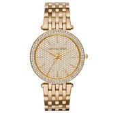 Michael Kors Darci Ladies Watch MK3438 | Crystal Pave Dial | GoldTone Stainless Strap
