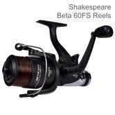Shakespeare Beta 60 FS Free Spool Spinning Reel | Lightweight | For Fishing | Black