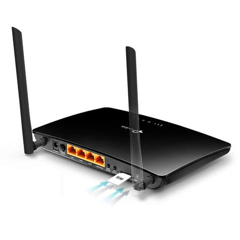 TP-Link TL-MR6400 300Mbps SIM Slot Unlocked Wireless N 4G LTE Cable Router | Black Thumbnail 4