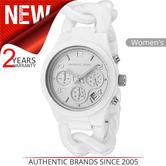 Michael Kors Ceramic Ladies Watch MK5387 | Chronograph White Dial | Bracelet Strap