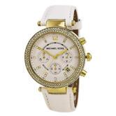 Michael Kors Parker Ladies Watch MK2290 | Chronograph Dial | White Leather Strap