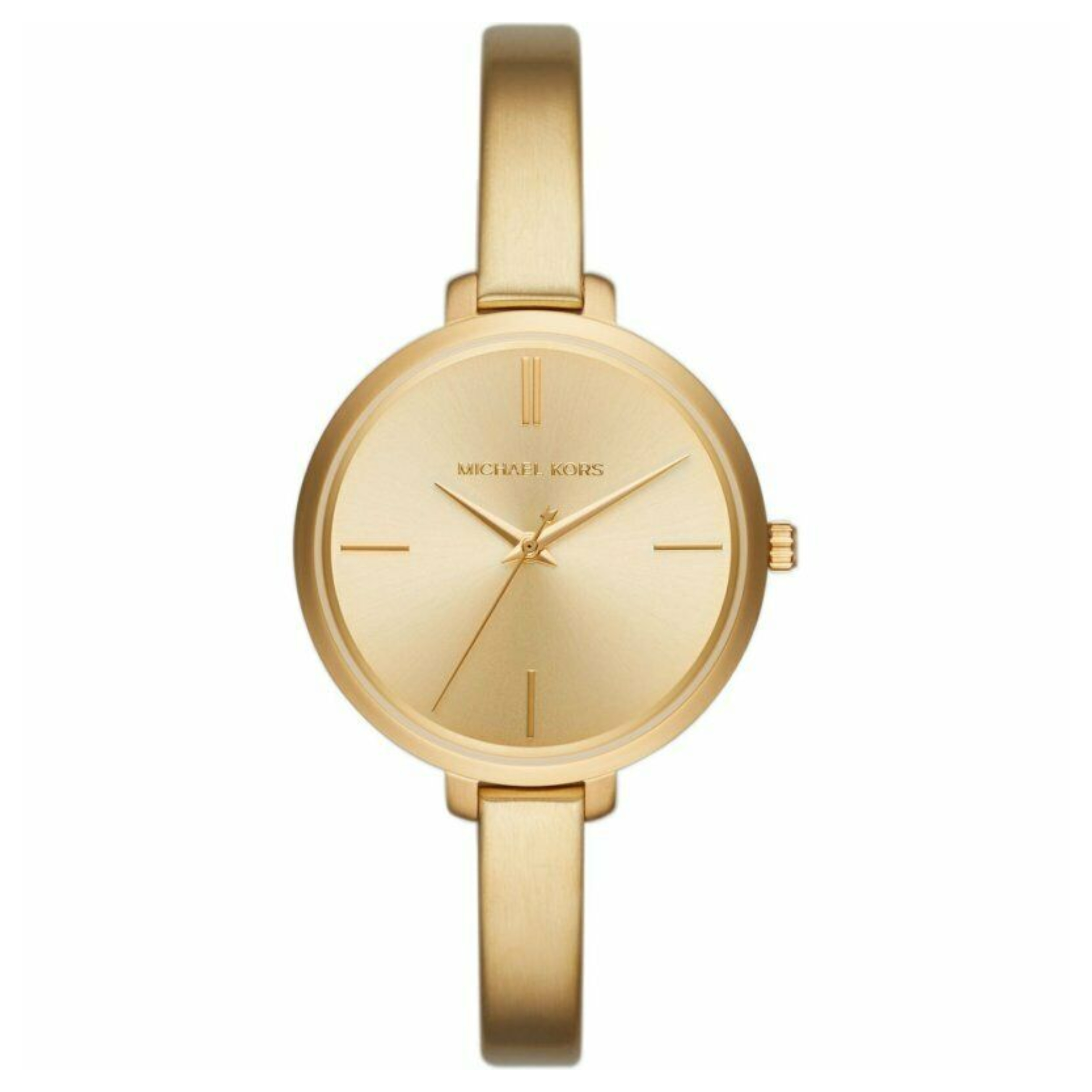 f7187784d929 Michael Kors Jaryn Las Watch Mk3546 Gold Tone Dial Bangle Bracelet Strap  Sustuu